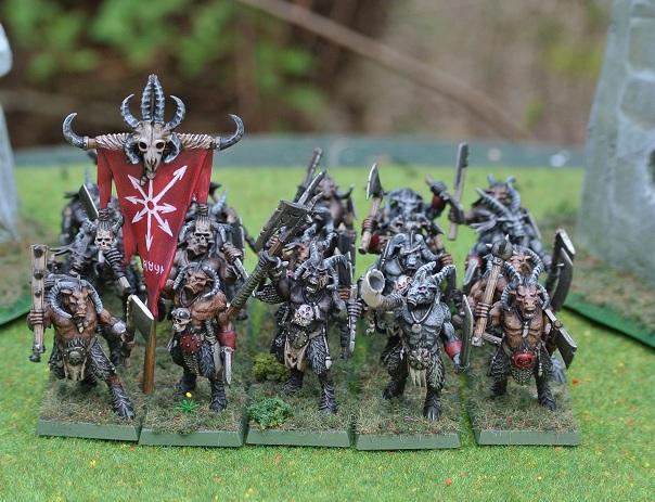 Le choix des armes 1.2 : premier régiment. dans Warhammer beastmen-1
